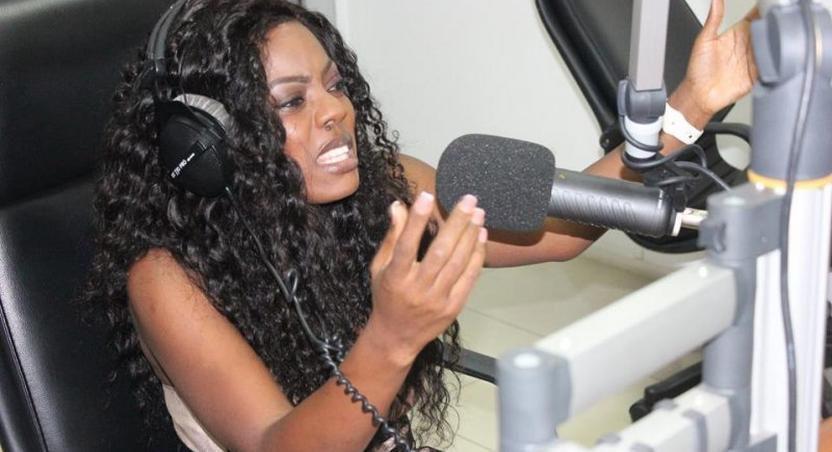 Nana Aba Anamoah in Starr FM studios
