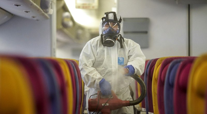 Airlines around the world are now using hospital-grade disinfectants to sterilize planes to stave off the coronavirus (UAL)