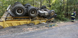 Makabra na drodze. Kierowca udusił się!