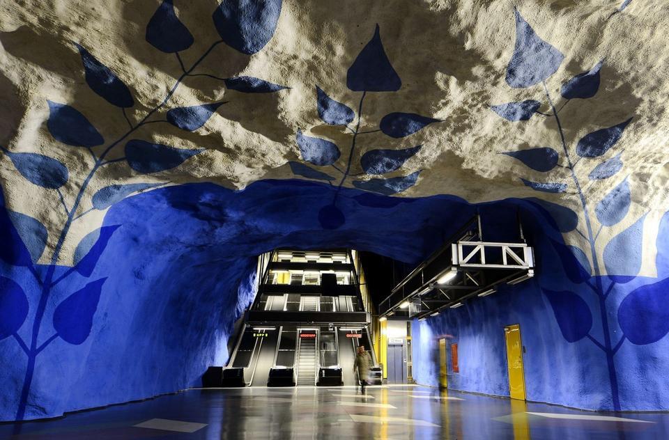 Stacja  T-Centralen w Sztokholmie, w Szwecji