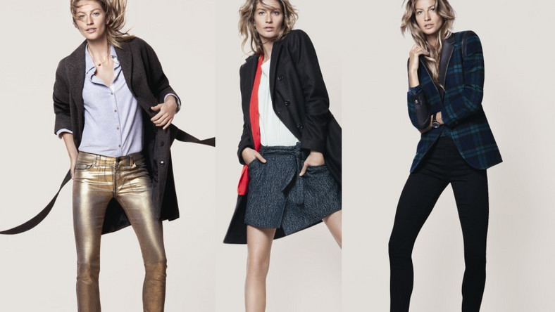 Modelka w ubraniach z kolekcji Esprit jesień/zima 2012/2013