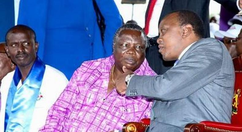 President Uhuru Kenyatta with Cotu boss Francis Atwoli