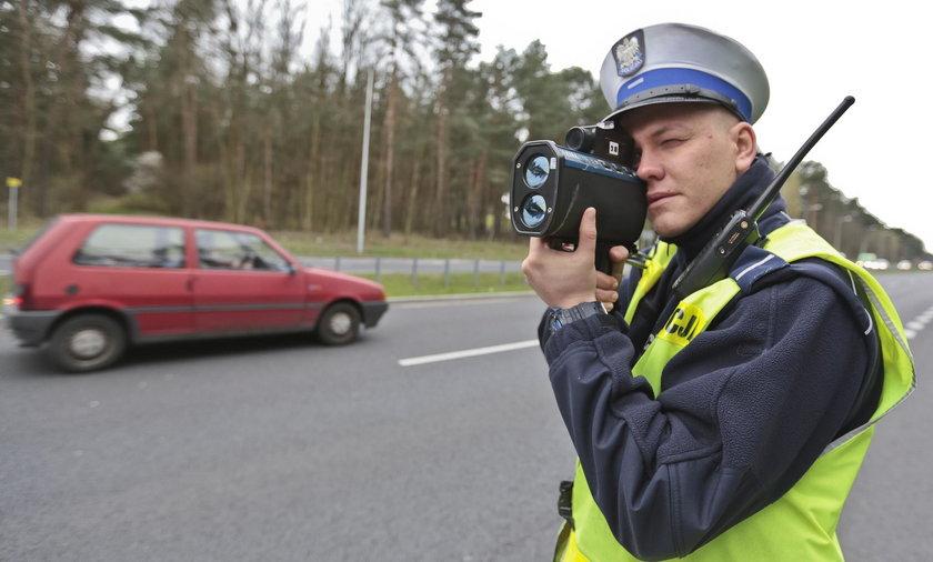 Polska drogówka często wykorzystuje laserowe mierniki prędkości