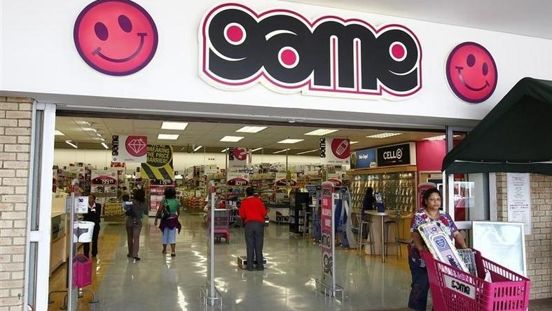 A shopper leaves the Game store in South Gate mall south of Johannesburg September 27, 2010. REUTERS/Siphiwe Sibeko