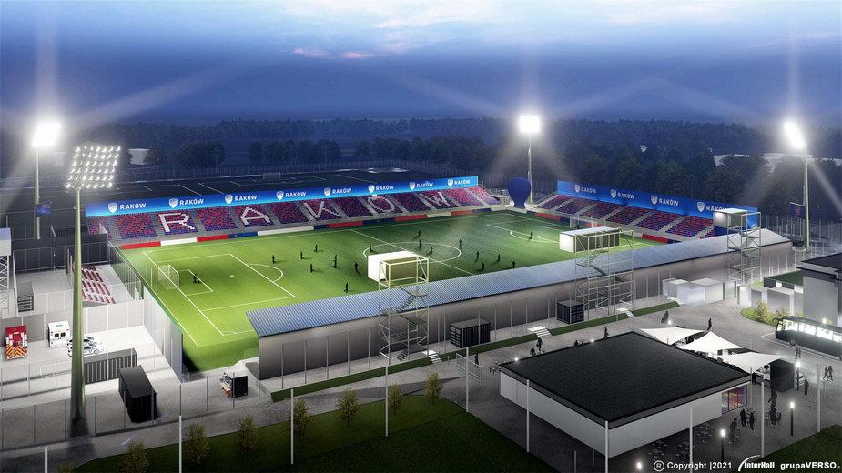 Wizualizacje przebudowanego Stadionu Rakowa Częstochowa