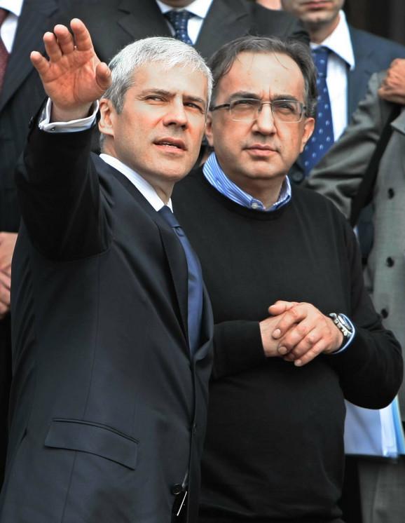 Boris Tadić i Serđo Markjone