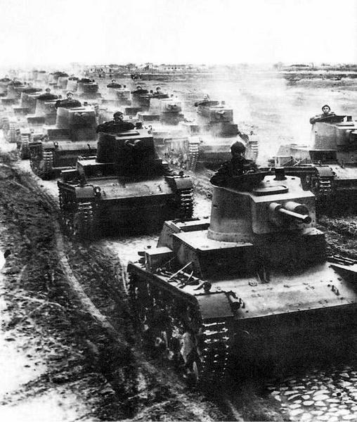 Przemarsz czołgów 7TP