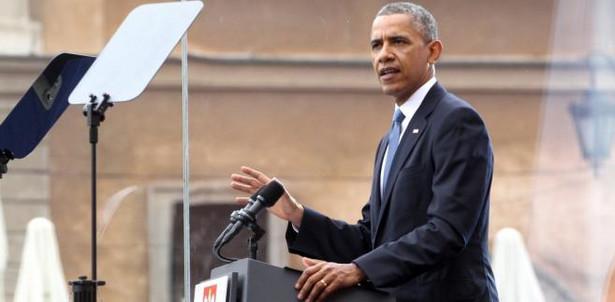 Prezydent USA Barack Obama przemawia podczas głównych uroczystości z okazji 25-lecia Wolności , PAP/Paweł Supernak