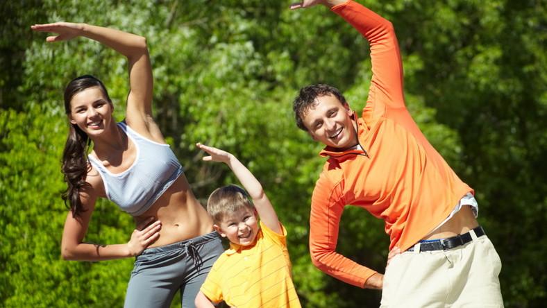 Rodzinny trening w plenerze