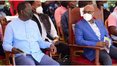 Raila hosts Jimmy Wanjigi and Polycarp Igathe at a fundraiser hours after police canceled DP Ruto's harambee [Video]