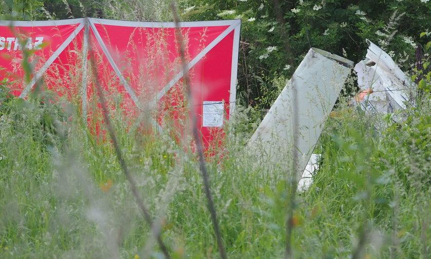 Wypadek awionetki w Bobrownikach