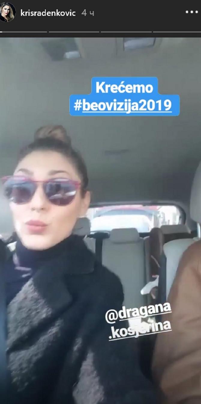 Kristina Radneković kreće na probu Beovizije