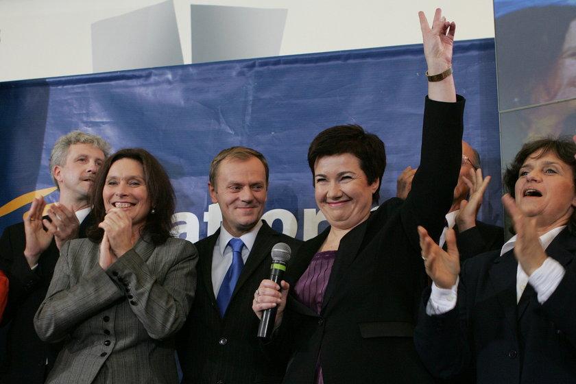 Donald Tusk i Hanna Gronkiewicz-Waltz