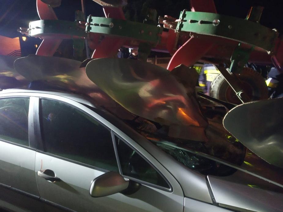 Wypadek w Osinach obok Szadku w powiecie zduńskowolskim