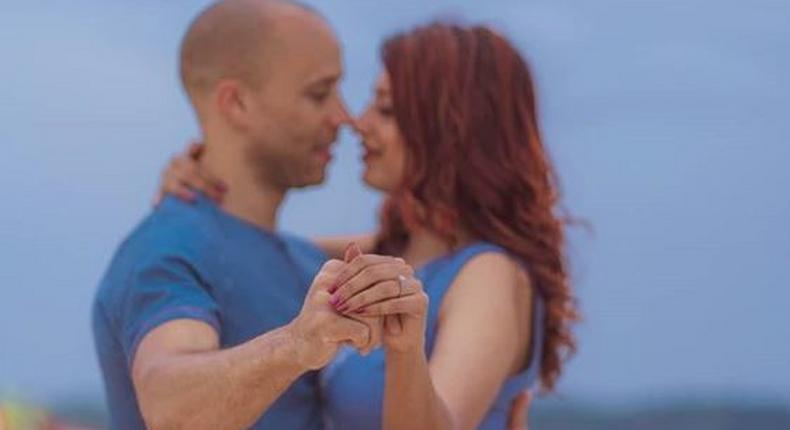 Eve D'Souza surprises her with romantic engagement on the beach in India [Photos]