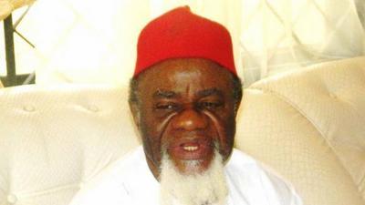Ex-Gov Chukwuemeka Ezeife in court for Nnamdi Kanu's trial