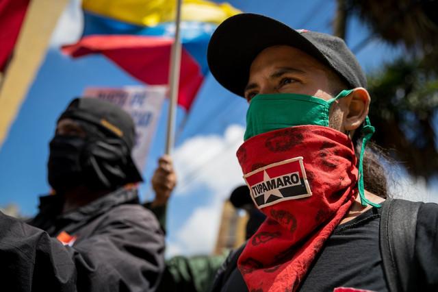 Protest pristalica partije Tupamaro u Karakasu u avgustu