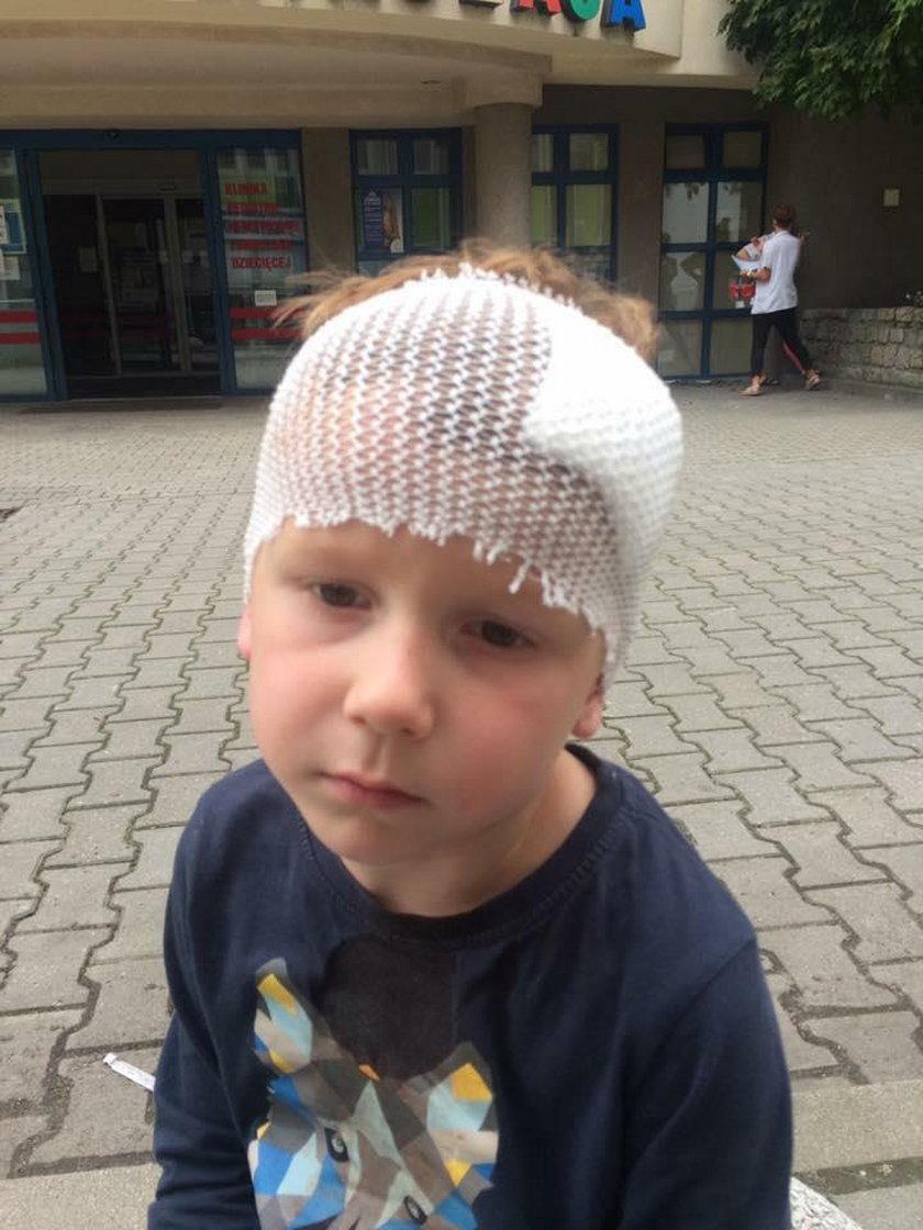 5-letni Filipek został potrącony przez rowerzystę podczas spaceru