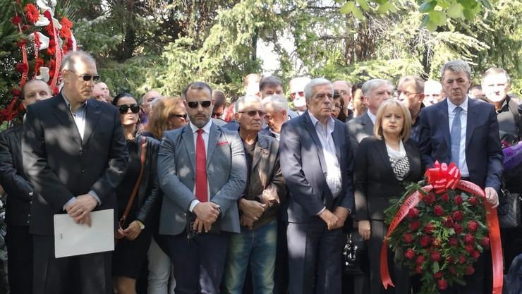 Slavica Đukić Dejanović, Mirjana Marković, Sahrana, Požarevac