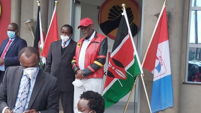 Kalonzo, Rutto at Jubilee Headquarters for important signing of post election agreement