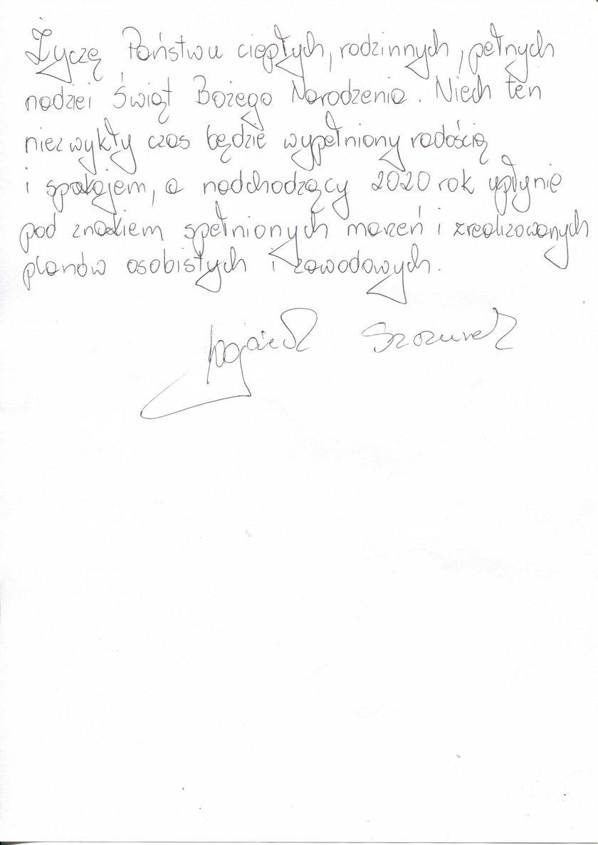 życzenia Wojciecha Szczurka