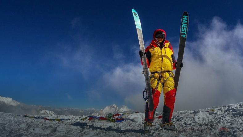 """Olek Ostrowski na Czo Oju - """"Szczyt, szczyt, szczyt! Za raz zacznę spełniać marzenie i mieć pod nartami cały świat!"""""""