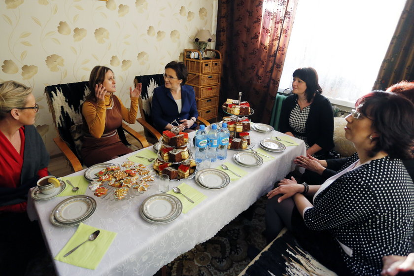 Spotkanie premier Ewy Kopacz z żonami górników KWK Kazimierz-Juliusz