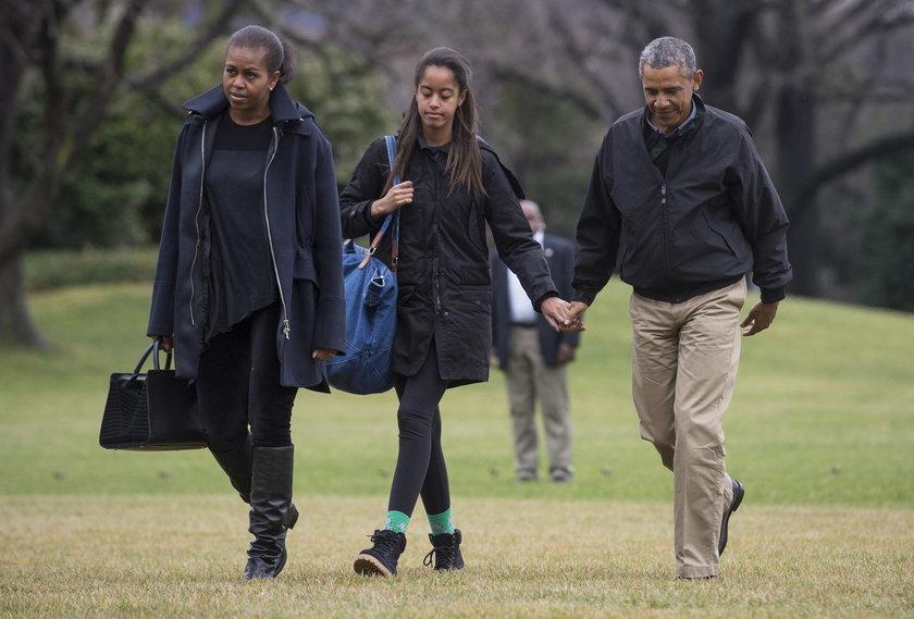 Prezydent Stanów Zjednoczonych Barack Obama z rodziną