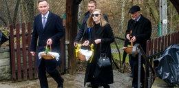 Prezydent z córką poszli ze święconką. A gdzie pierwsza dama?