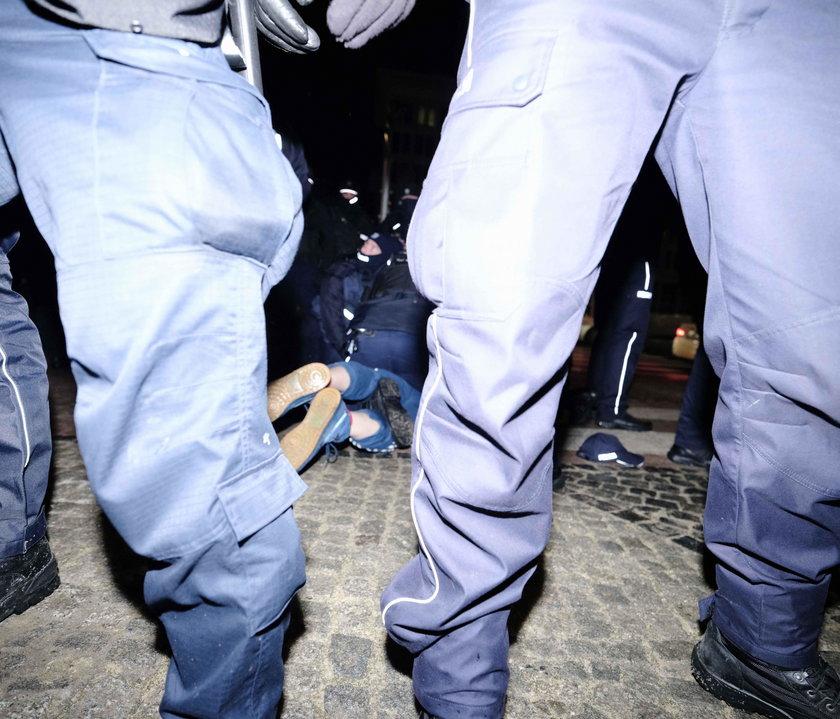 Policjanci podczas akcji