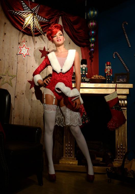 Woskowa figura Rihanny w muzeum Madame Tussauds w Berlinie