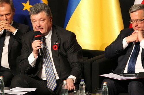 Przemówienie Poroszenki, fot.  PAP/Piotr Wittman