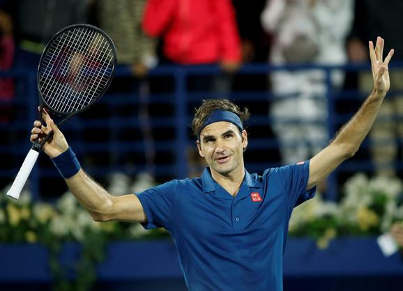 Rodžer Federer je na turniru u Dubaiju stigao do 100. titule u karijeri