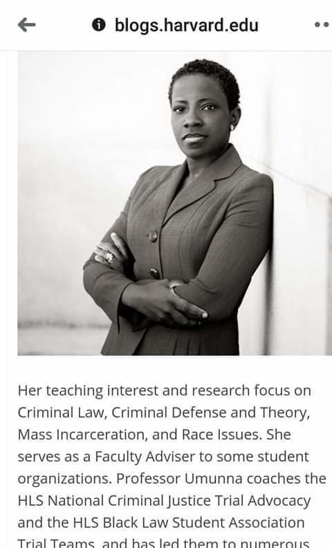 Umunna was a lecturer for several years at the George Washington University Law School.(Facebook/Dehlia Umunna)
