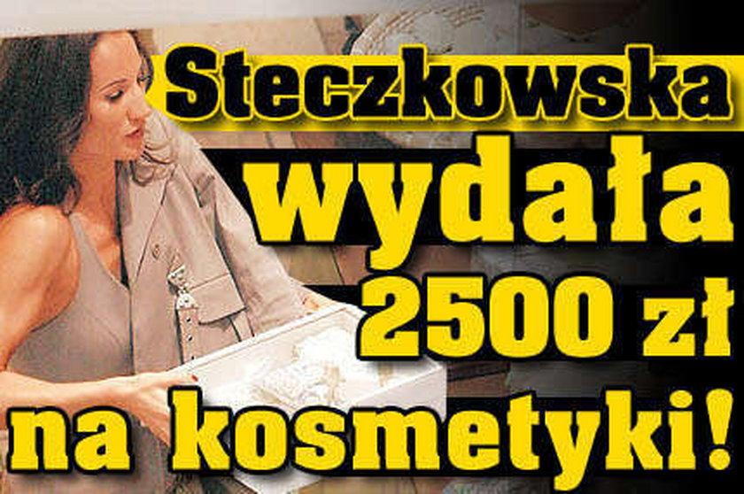 Steczkowska wydała 2500 zł na kosmetyki!