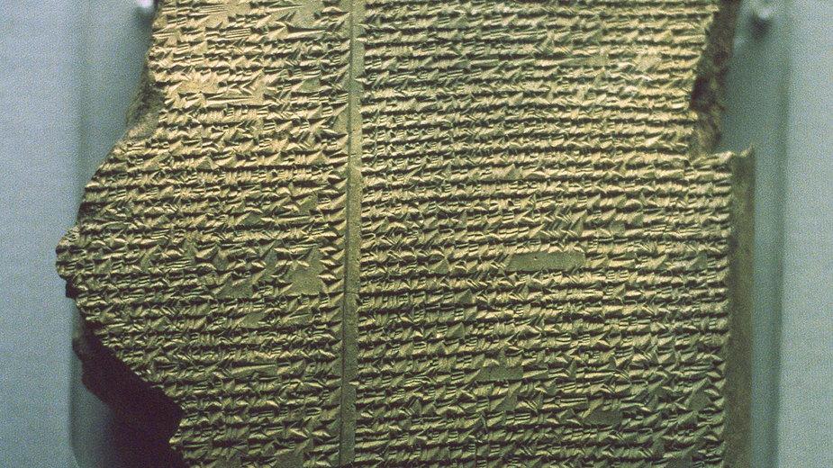 Fragment Eposu o Gilgameszu z Muzeum Brytyjskiego