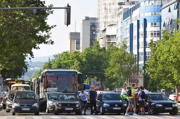 Blokada u Novom Sadu