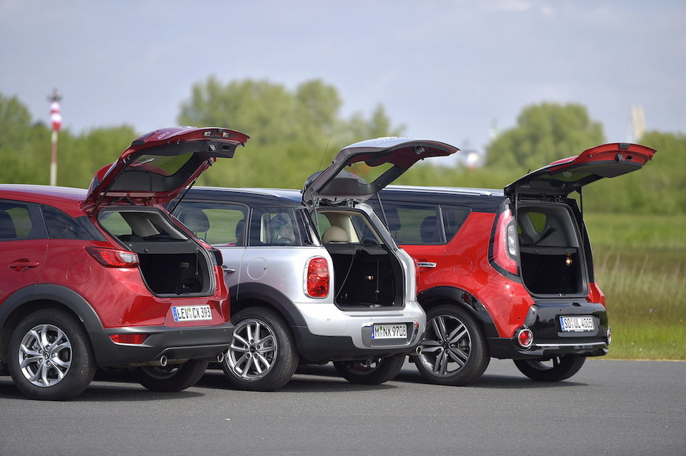 Kia Soul, Mazda CX-3, Mini Countryman