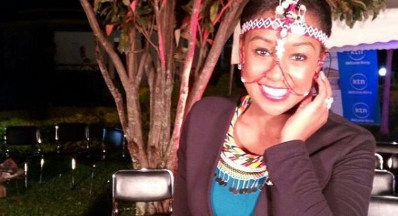 Betty Kyalo rocking her masaai accessories