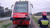 Dramatyczny wypadek pociągu pod Jarocinem. Mamy wideo
