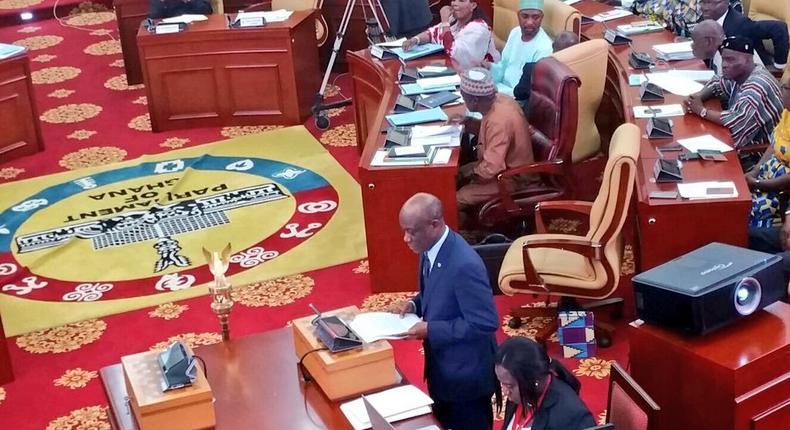 Hon Seth Tekper in Parliament