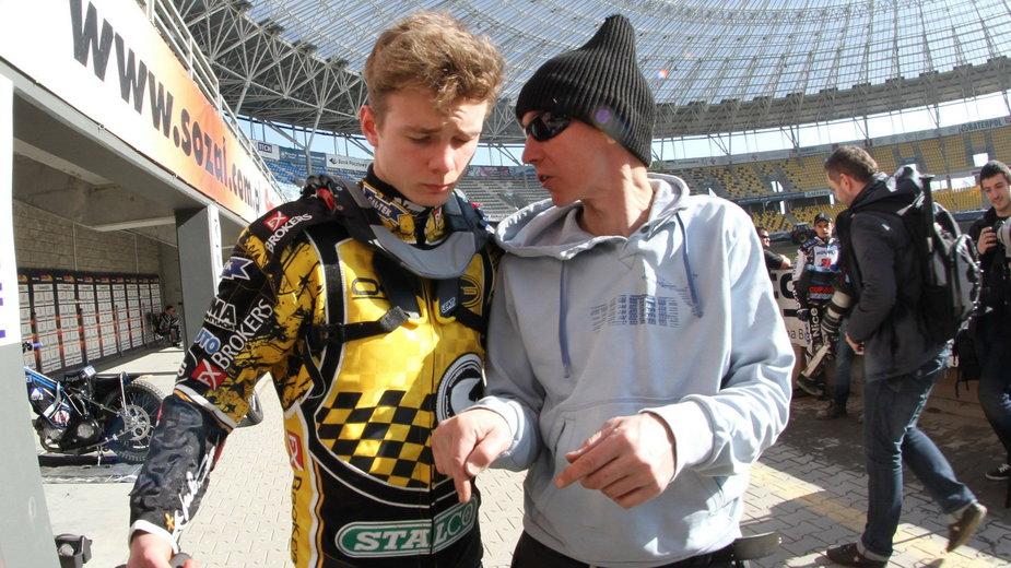 Oskar Ajtner-Gollob i jego ojciec Jacek Gollob.