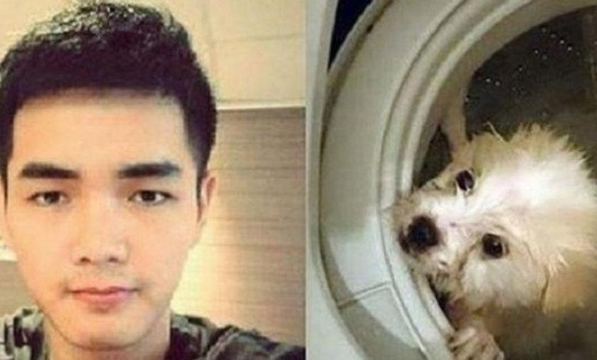 utopił psa w pralce