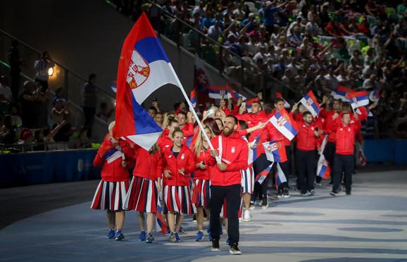 Tim Srbije kreće u svečani defile na otvaranju Evropskih igara u Minsku