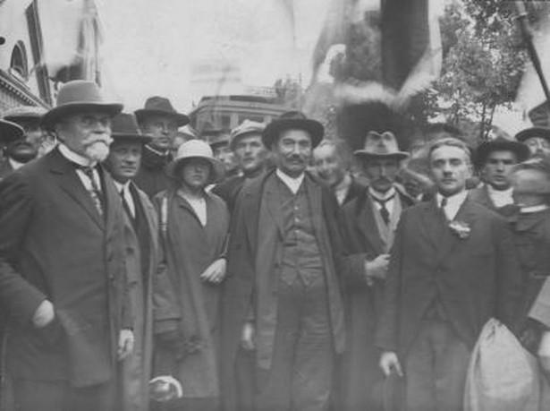 Wincenty Witos (w środku) z wizytą w Grudziądzu w czerwcu 1925