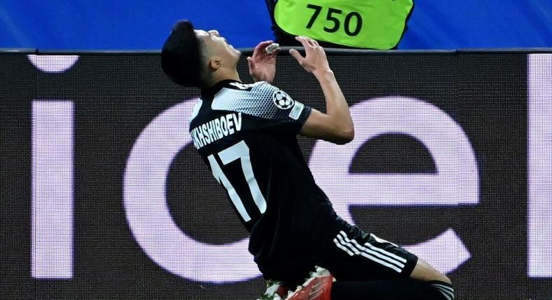 Sheriff's Uzbek forward Jasurbek Yakhshiboev enjoyed his opening goal Creator: JAVIER SORIANO