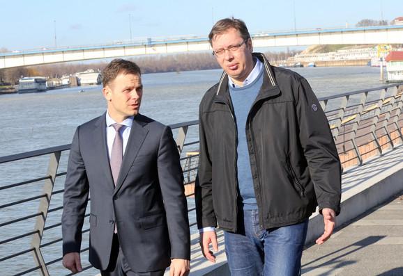Siniša Mali i Aleksandar Vučić