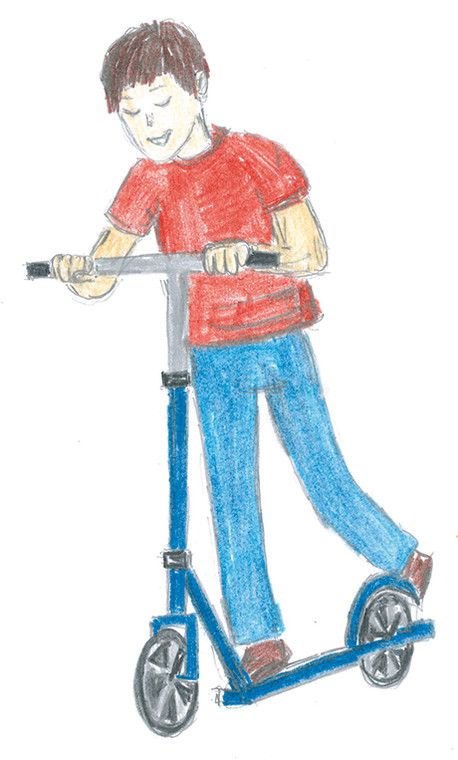 hulajnoga - rysunek