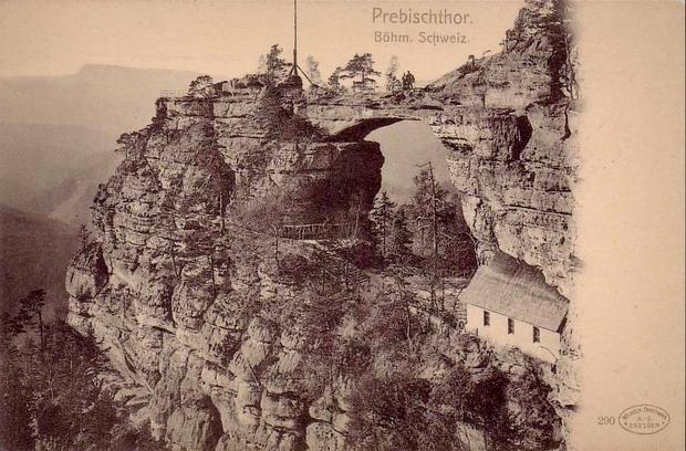 Brama Pravčická, widokówka z 1902 r.