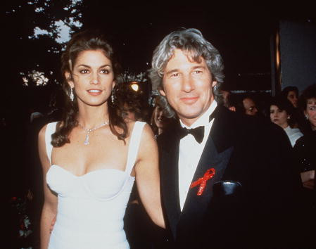 Cindy Crawford  i Richard Gere w 1993 roku